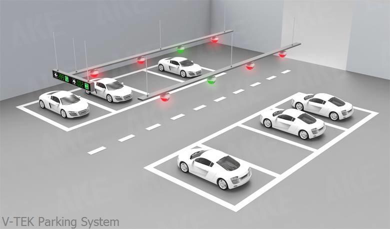 Hệ thống quản lý chỉ dẫn đỗ xe trong bãi V-TEK CarParking